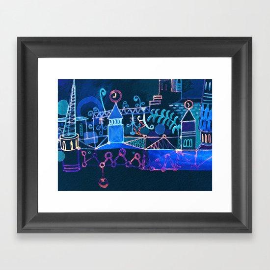 magic city Framed Art Print