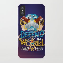 Defend your world v2 iPhone Case