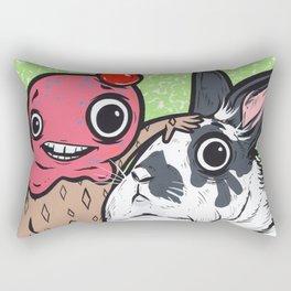 Lionhead Rabbit Friends Rectangular Pillow