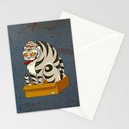 Minhwa: Big Happy Cat D Type (Korean traditional/folk art) Stationery Cards