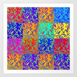 patchwork fantasy Art Print