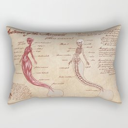 Anatomy of the Mermaid Rectangular Pillow
