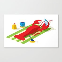 Lobster Red Canvas Print