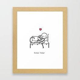 Smitten Kitten Framed Art Print