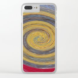 Swirl 02 - Colors of Rust / RostArt Clear iPhone Case