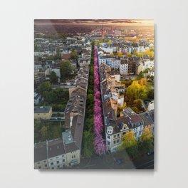 Cherry Blossom Street in Germany Metal Print