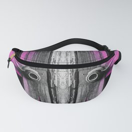 pink old vintage wooden doors texture background Fanny Pack