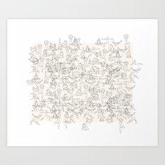 Yoga Manuscript Art Print