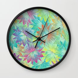 Flower Sea Wall Clock