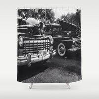 old school Shower Curtains featuring Old School by Xneon