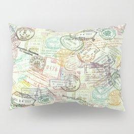 Passport Stamps Pillow Sham