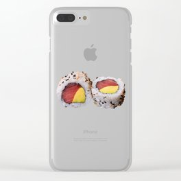 Sushi Philadelphia tune and avocado Clear iPhone Case