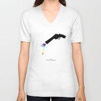 bohemian V-neck T-shirts featuring Bohemian Rhapsody by Arian Noveir