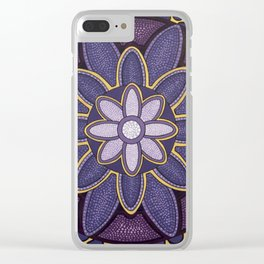MANDALA VIOLETA Clear iPhone Case