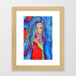 I dreamed a thousand years, 120-80 cm, 2018, oil on canvas Framed Art Print