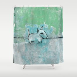 Dog No.1n by Kathy Morton Stanion Shower Curtain