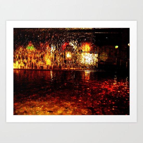 Fire Fountain Art Print