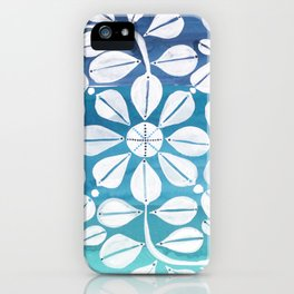 Blue Zellige iPhone Case