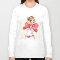 valentines Long Sleeve T-shirts featuring Happy Valentines! by Elisa FS