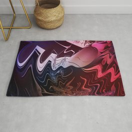 Anger management - An abstract mood illustration Rug