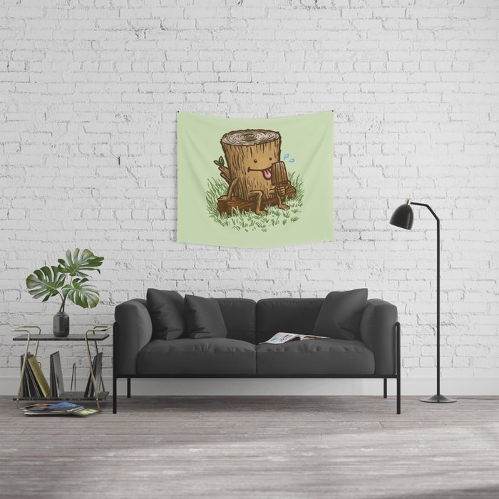 The Popsicle Log Wall Tapestry