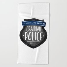 Grammar Police Beach Towel