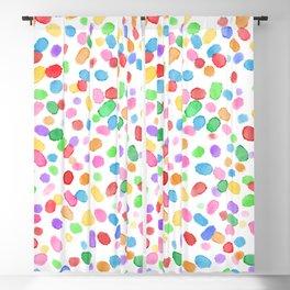 Paint Specks - Colour Swirl Variant Blackout Curtain