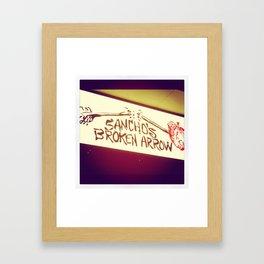 Sancho's Denver Framed Art Print
