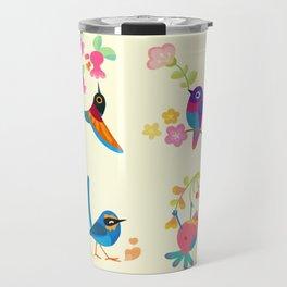 Flower and bird Travel Mug