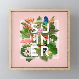 Summer Parrots Framed Mini Art Print