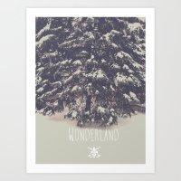 wonderland Art Prints featuring Wonderland by Christine VanFonda