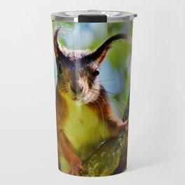 A Cute Squirrel Looking at YOU Travel Mug