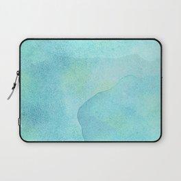 Abstract Blue Ocean Waves  Laptop Sleeve