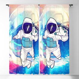 Astronaut Cosmo Blackout Curtain