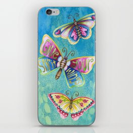 Give Your Spirit Wings  iPhone Skin