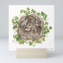 Bunny Nest Mini Art Print