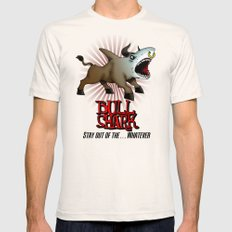 Bull Shark Version 2 Animal Series by RonkyTonk Mens Fitted Tee Natural SMALL