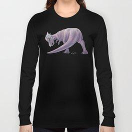 Purple Pachycephalosaurus Long Sleeve T-shirt