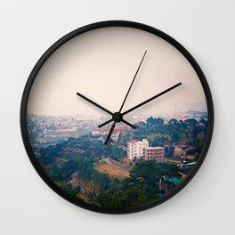 DALAT IN THE FOG Wall Clock
