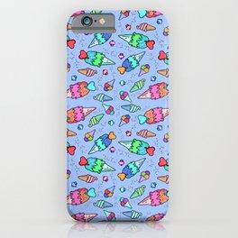 Blue Ice Cream Pattern iPhone Case