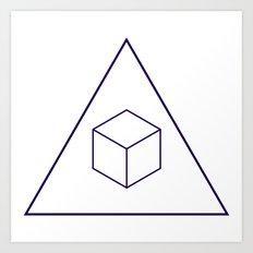 Delta Cubes Art Print