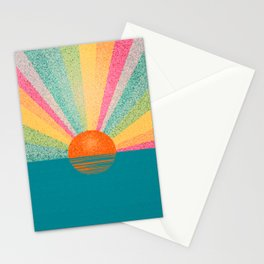 Magical sunset. Stationery Cards
