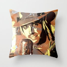 Tom Petty. painting. learning to fly. Throw Pillow