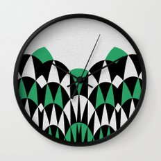 Modern Day Arches Green Wall Clock