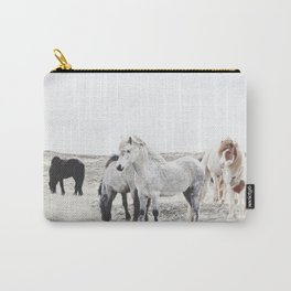 WILD AND FREE  1 - HORSES OF ICELAND Carry-All Pouch