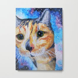 Snickers in Space Metal Print