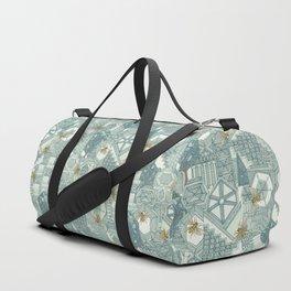 hexagon city Duffle Bag