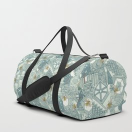 hexagon city Duffle Bag