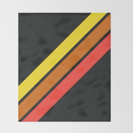 3 Retro Stripes #3 Throw Blanket