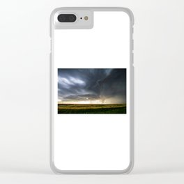 Storm Season - Thunderstorm Takes Shape in Northern Kansas Clear iPhone Case